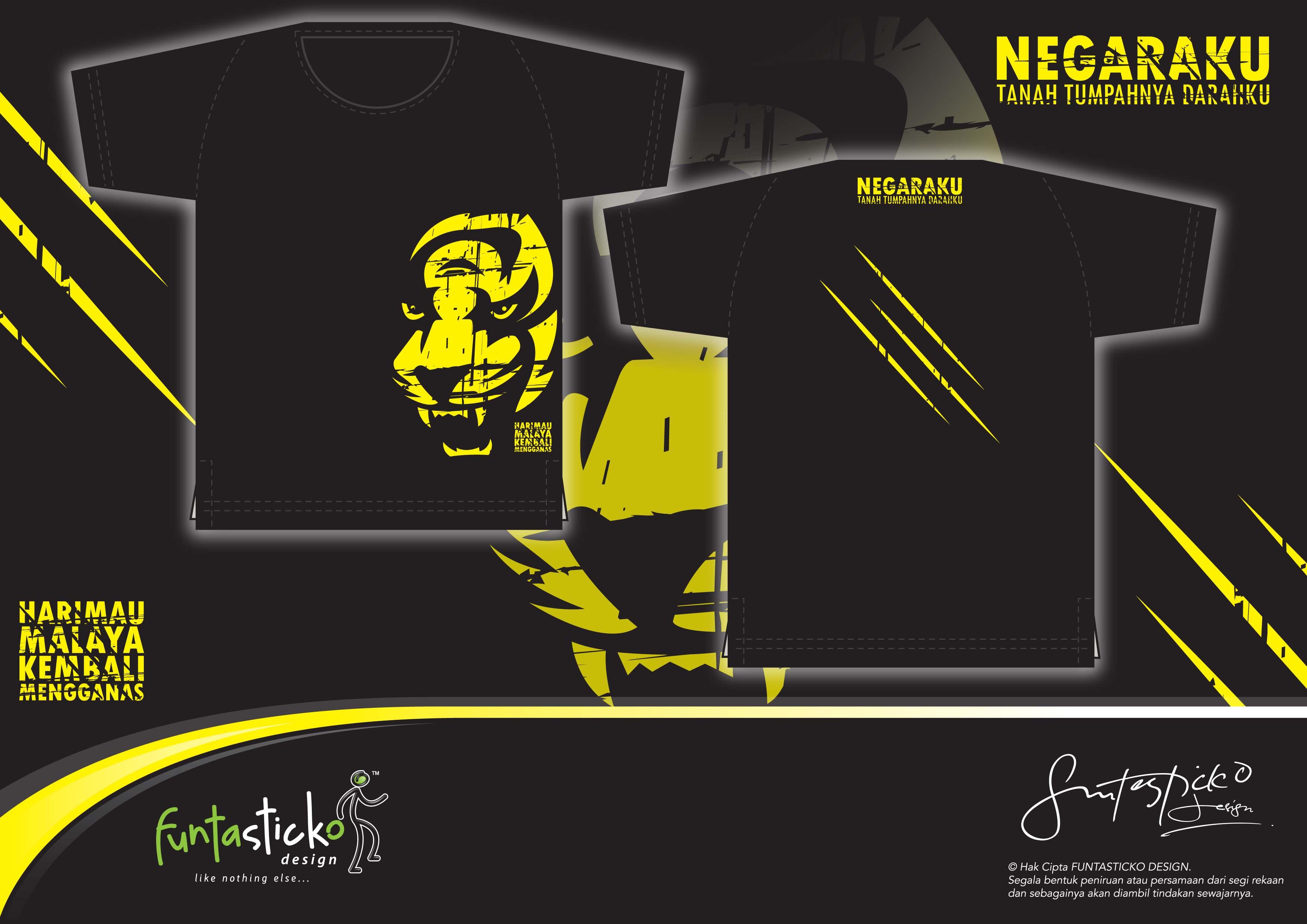 "PANAS : Design 1st stage T-shirt Harimau Malaya telah ""diciplak ..."