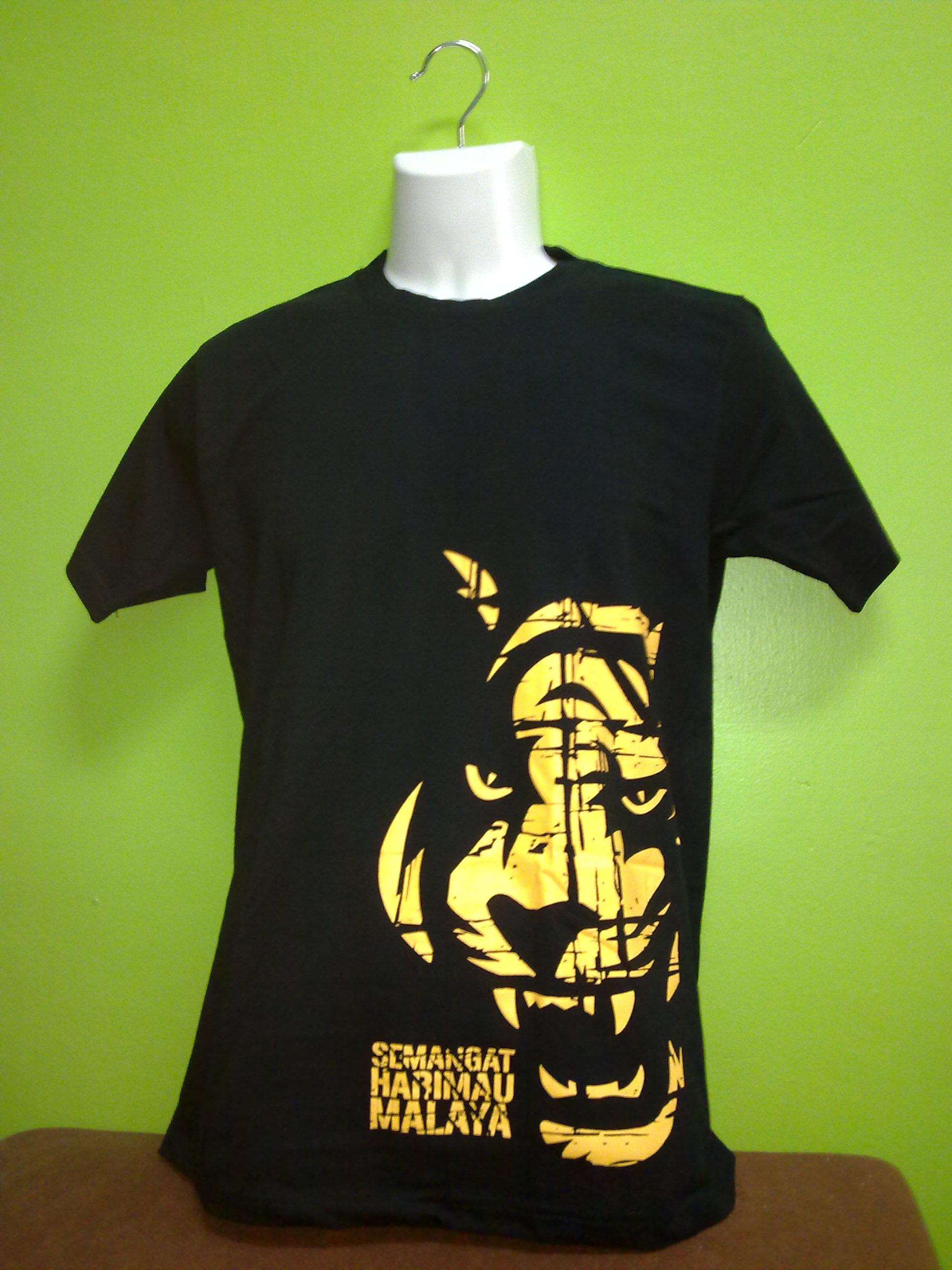 Design t shirt kolar terkini - Tempahan Baru Untuk T Shirt Harimau Malaya Dibuka Semula