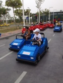 Children get behind the wheel for  a real-life driving experience.